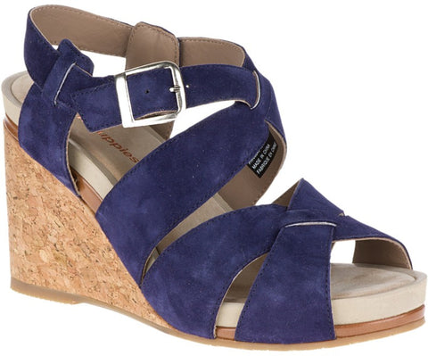 Fintan Montie suede wedges in royal navy