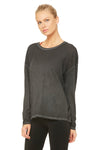 Falls long sleeve top in anthracite
