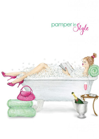 Greeting Card - Pamper In Style