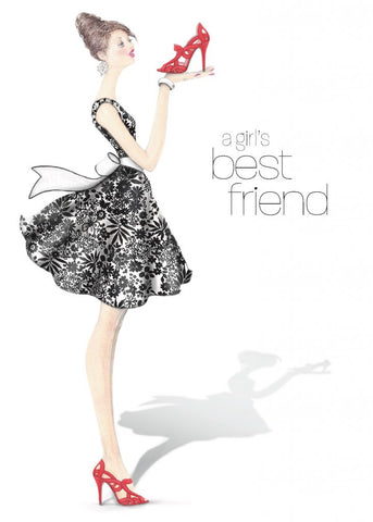 Greeting Card - Girl's Best Friend