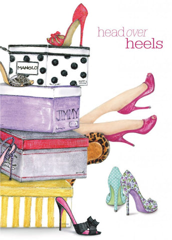 Greeting Card - Head Over Heels