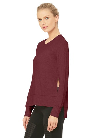 Glimpse long sleeve top in cherry heather
