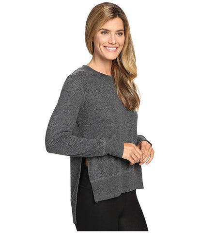 Glimpse long sleeve top in Charcoal