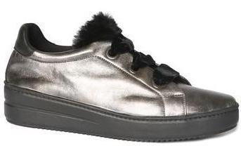 Groove slip-on sneaker in pewter