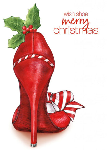 Greeting Card - Wish Shoe Merry Christmas