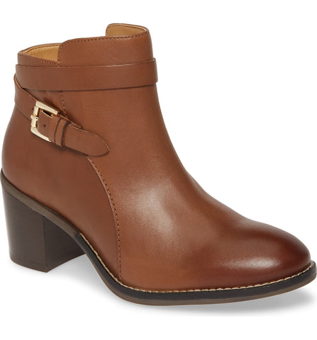 Hanna strap dachshund brown ankle booties