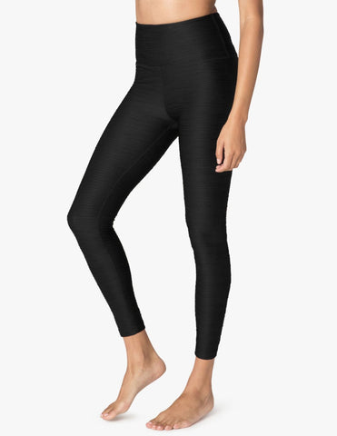 Influx caught in the midi high waisted leggings in black