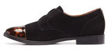 Jayla derby oxford in black/tort