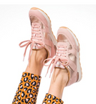 Jenna jogger sneakers in pale/rose gold