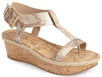 Kann platform wedge t-strap sandals