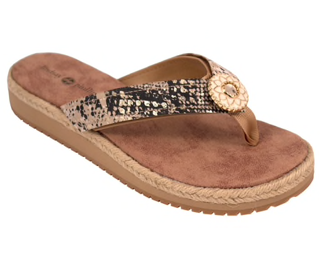 Keeley natural flip flops