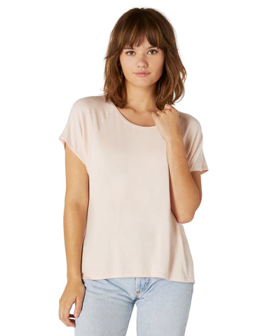 Slink out loud high low tee in pink quartz
