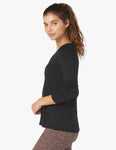 Out front split pullover in black