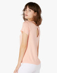 Over under relaxed tee in coral dust