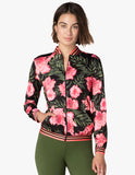 True stripes bomber jacket in protea vine