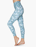 Lux sky blossoms high waisted midi leggings