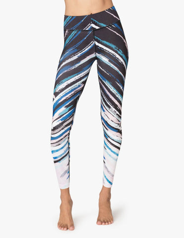 High waisted lux chevron midi legging