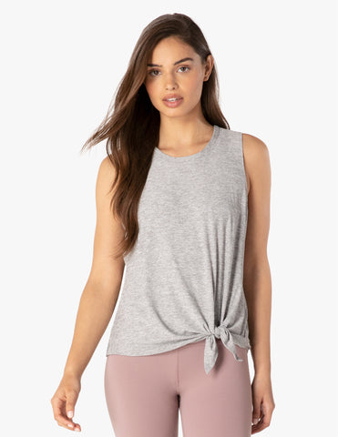 Lightweight all for ties tank in silver mist