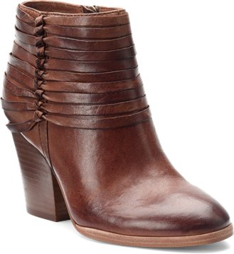 Lander italian leather booties in brown
