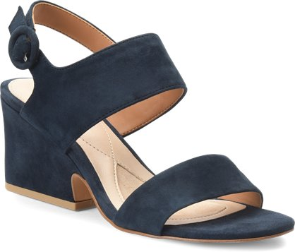 Landra slingback block heel sandals in navy