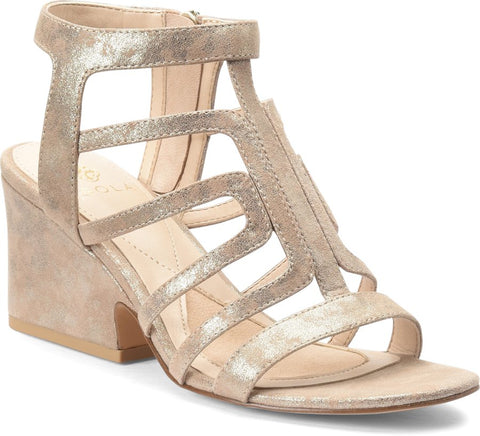 Lina cagged sandals in anthracite tan