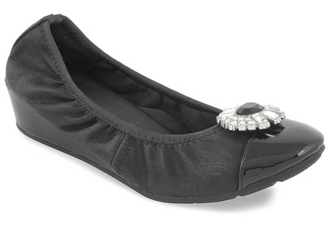 Linda black interchangeable demi wedge