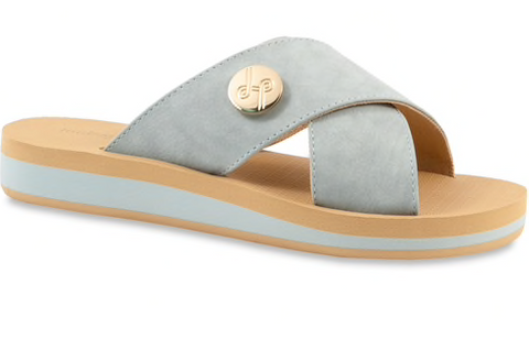 Lotus seafoam blue slides