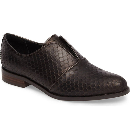 Maria slip-on oxford in moro brown