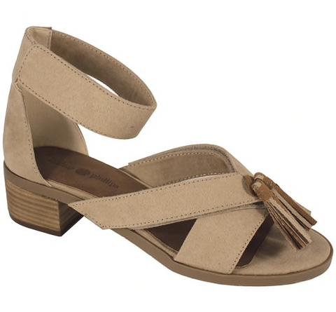 Michelle taupe block heel sandals
