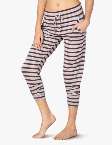 Good times midi joggers in americana stripe terry