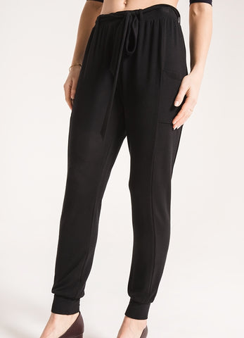 Neapoli baby french terry jogger pant in black