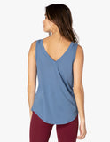 In the deep v-neck tank in victory blue