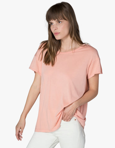 Super slick tee in pink shell