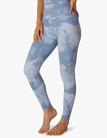 Olympus blue smoke high waisted midi leggings