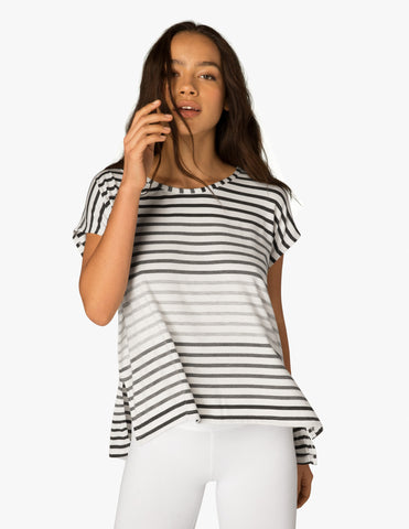 Bring it ommmbre striped top