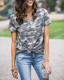Perfect pocket tee in washed camo