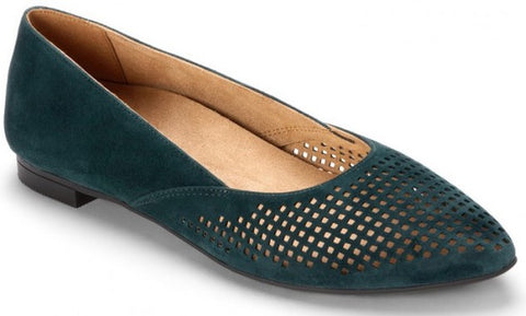 Posey pointy toe flats in teal