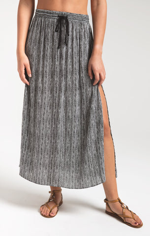 Indah batik stripe dress in black/white