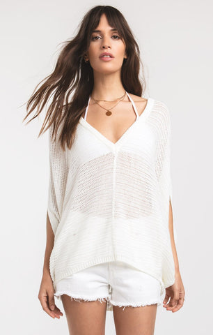 Sudra off white v-neck knit top