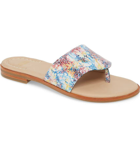 Raney multi mosaic leather sandal
