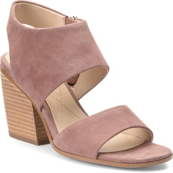 Ravenna block heel sandals in mulberry