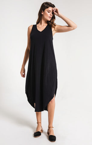 Reverie midi dress in black