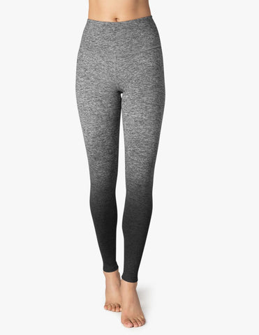 High waisted spacedye legging in black ombre