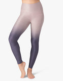 High waisted spacedye legging in amethyst ombre