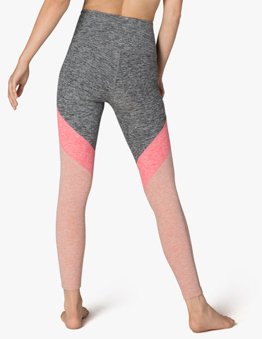 e2ef75d2b8642 Tri-panel spacedye high waisted midi legging in pink shell – STEP in ...