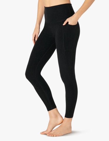 Out of pocket high waisted midi leggings in darkest night