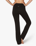 High waisted practice pants in jet black