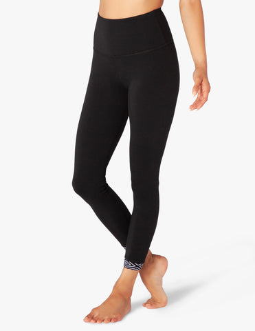 Badlands high waisted banded midi leggings in black