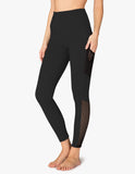 High waisted mesh behavior leggings in black