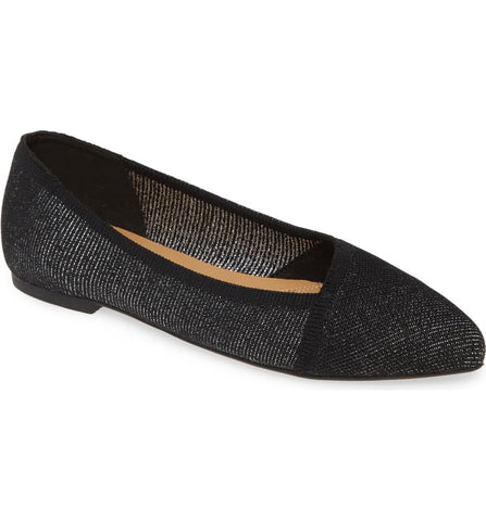 Sadie knit ballet flats in black